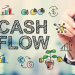 cash flow on a glass board